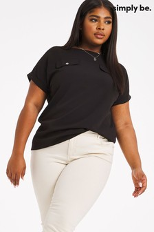 Simply Be Utility Boxy Top