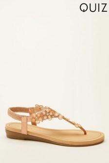 Quiz Comfort Flower Embellished Sandal