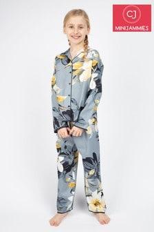 Cyberjammies Rachel Grey Floral PJ Set