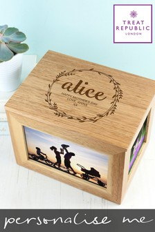 Personalised Photo Cube Keepsake Box by Treat Republic