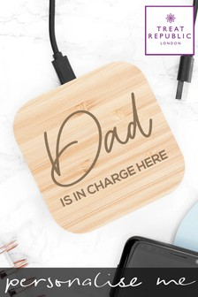 Personalised Wireless Charger by Treat Republic