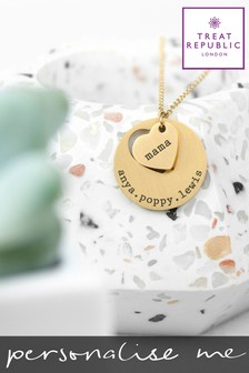 Personalised Heart Necklace by Treat Republic