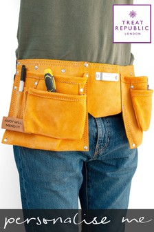 Personalised Leather Tool Belt by Treat Republic