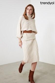 Trendyol Roll Neck Jumper And Skirt Co-Ord