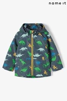 Name It Dinosaur Print Mac Jacket
