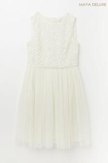 Maya Sequin Tulle Dress