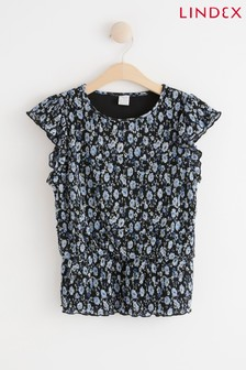 Lindex Floral Ruffle Top
