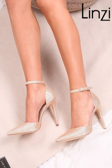Linzi Whitney Court Heel With Ankle Strap