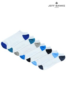 Jeff Banks Mens Trainer Socks Seven Pack