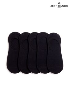 Jeff Banks Mens Invisible Trainer Socks Five Pack