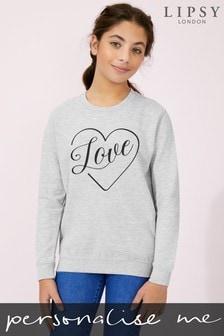 Personalised Lipsy Love in Your Heart Kid's Sweatshirt by Instajunction