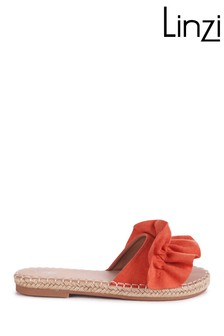 Linzi Florence Faux Suede Frill Upper Slider