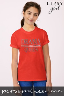 Personalised Lipsy Drama Queen Kid's T-Shirt by Instajunction