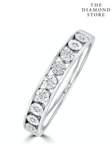 The Diamond Store Channel Set Lab Diamond Eternity Ring 0.05ct in 9K White Gold