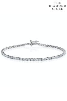 The Diamond Store 1.5ct Lab Diamond Tennis Bracelet Claw Set in 925 Silver