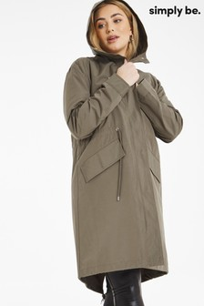 Simply Be Water Resistant Lightweight Parka