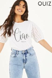 Quiz Ciao Slogan T-Shirt