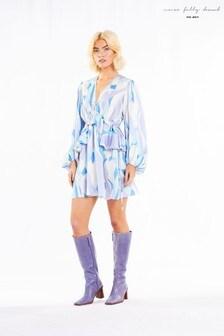 Never Fully Dressed Retro Swirl Frill Mini Dress