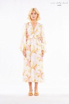 Never Fully Dressed Retro Swirl Ruddle Maxi Dress