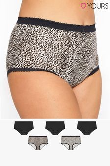 Yours 5 Pack Animal Print Full Briefs