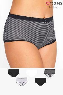 Yours 5 Pack Spot & Stripe Full Briefs