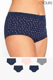 Yours 5 Pack Star Print Full Briefs