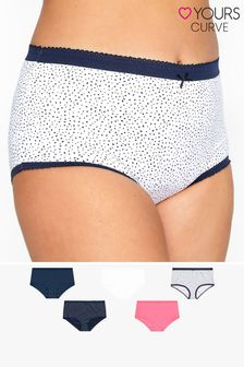 Yours 5 Pack Spot Print Full Briefs