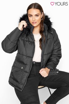 Yours Cropped Padded Puffer Jacket