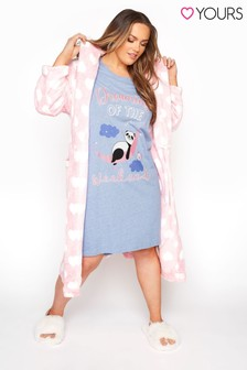 Yours Glitter 'Dreaming Of The Weekend' Panda Nightdress