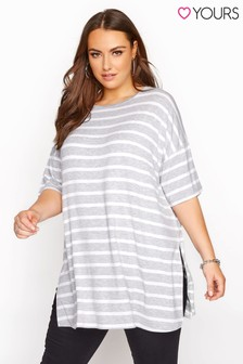 Yours Stripe Oversized T-Shirt