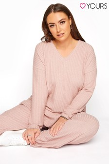Yours Soft Touch V-Neck Ribbed Top