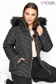 Yours Chevron Padded Puffer Jacket