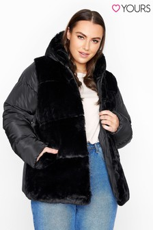 Yours Faux Fur Padded Jacket