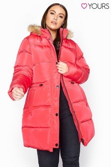 Yours Longline Padded Coat
