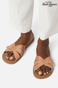 Salt-Water Sandals Leather Slides Sandal