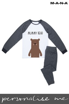 Personalised Mummy Bear Adults PJ Set by MANA