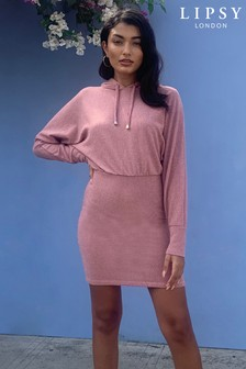 Lipsy Cosy Hoodie Dress