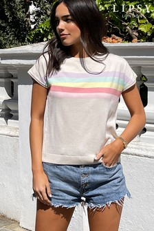 Lipsy Knitted Rainbow Tee
