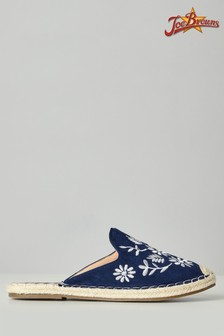 Joe Browns No Plans Embroidered Mules
