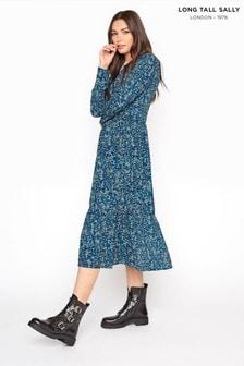 Long Tall Sally Floral Smock Midi Dress