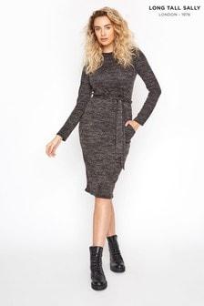 Long Tall Sally Marl Belted Midi Dress