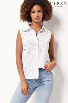 Lipsy Frill Collar Sleeveless Shirt