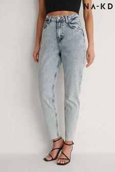 NA-KD Raw Hem Mom Jeans