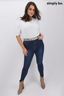 Simply Be Chloe High Waisted Skinny Jeans