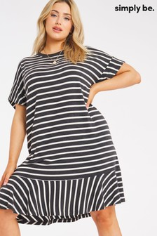 Simply Be Frill Hem T-Shirt Dress