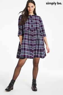 Simply Be Elizabeth Button Through Shirt Dress