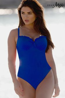 Pour Moi Splash Padded Underwired control swimsuit