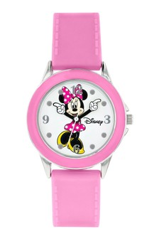 Disney Minnie Mouse Kids Silicon Strap Minnie Mouse Dial Watch