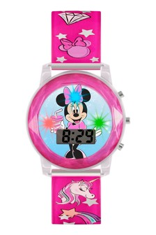 Disney Minnie Mouse Kids Plastic Strap Minnie Mouse Dial Watch