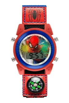 Marvel Spiderman Kids Printed PU Canvas Strap Dial Watch